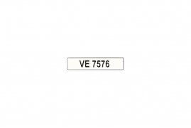 No. Plate VE7576